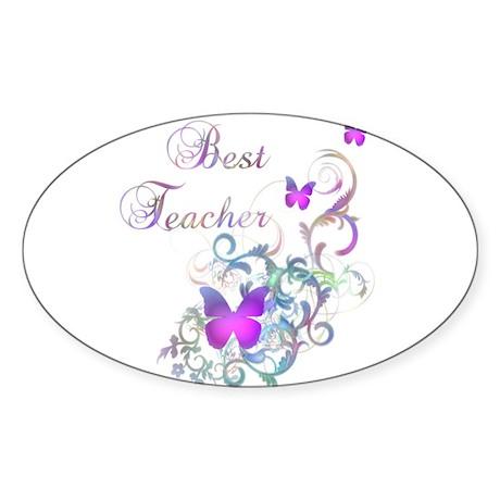 Best Teacher Sticker (Oval)