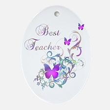 Best Teacher Ornament (Oval)