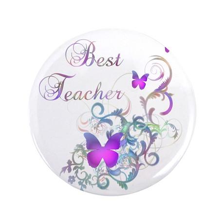 """Best Teacher 3.5"""" Button (100 pack)"""