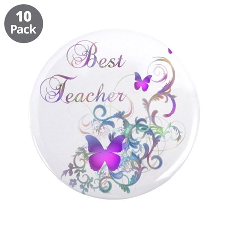 "Best Teacher 3.5"" Button (10 pack)"