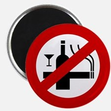 Funny NO Smoking Alcohol Sign Magnet