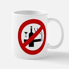 Funny NO Smoking Alcohol Sign Mug