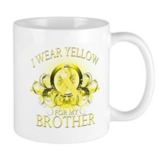 I Wear Yellow for my Brother Mug