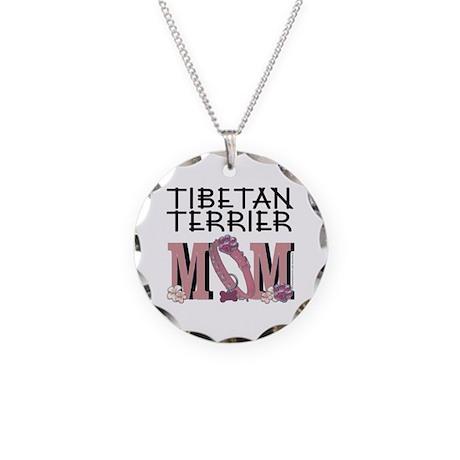 Tibetan MOM Necklace Circle Charm