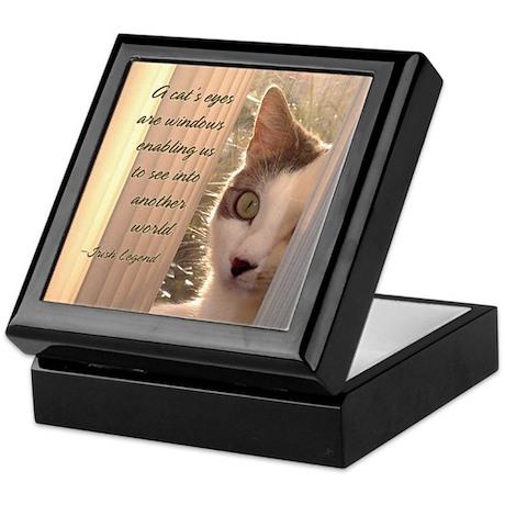 """A Cat's Eyes are Windows"" Keepsake Box"
