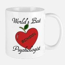 Worlds Best Teacher Apple psych Mugs
