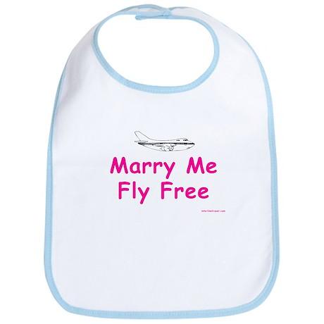Marry Me, Fly Free (Pink) Bib