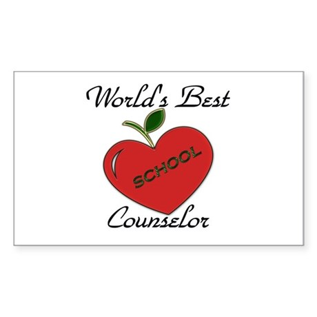 Worlds Best Teacher Apple counselor Sticker