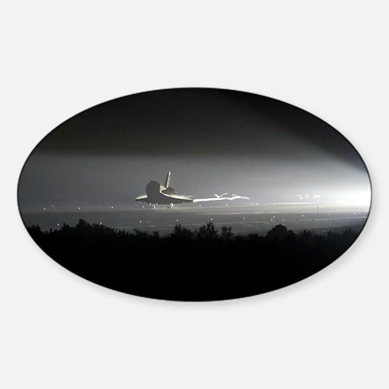 Space Shuttle Sticker (Oval)
