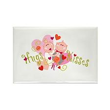Hugs n' Kisses Rectangle Magnet (100 pack)