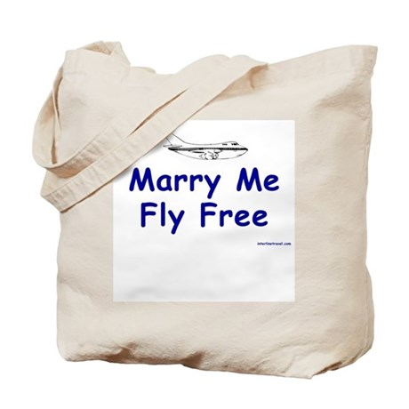Marry Me, Fly Free Tote Bag