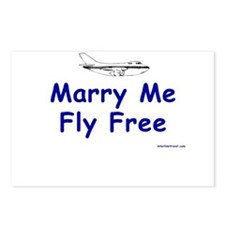 Marry Me, Fly Free Postcards (Package of 8)