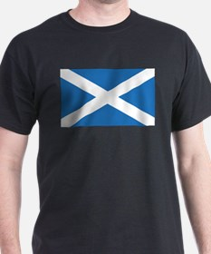 Scotland Flag Black T-Shirt