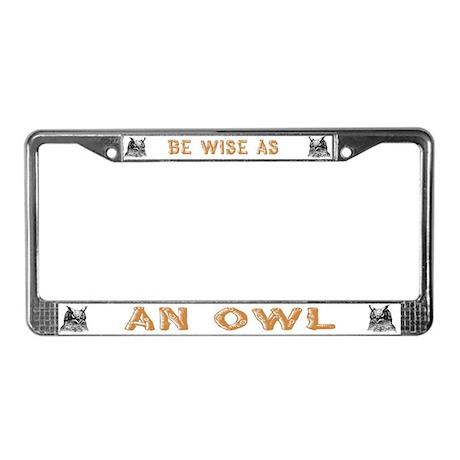 Owl Tree License Plate Frame