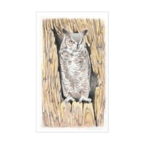 Owl Tree Rectangle Sticker