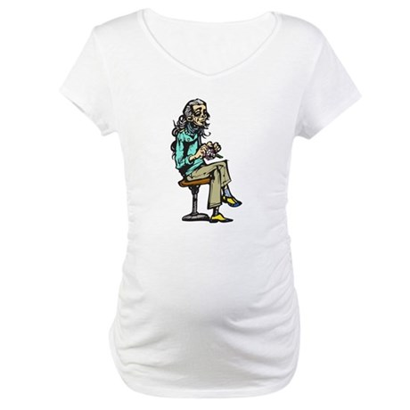 Active Aging Woman Maternity T-Shirt