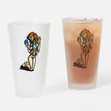 Healthy Lifestyle Lady Drinking Glass