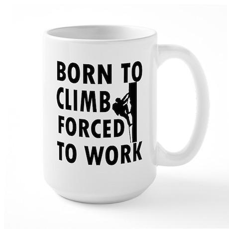 Born to Climb Large Mug