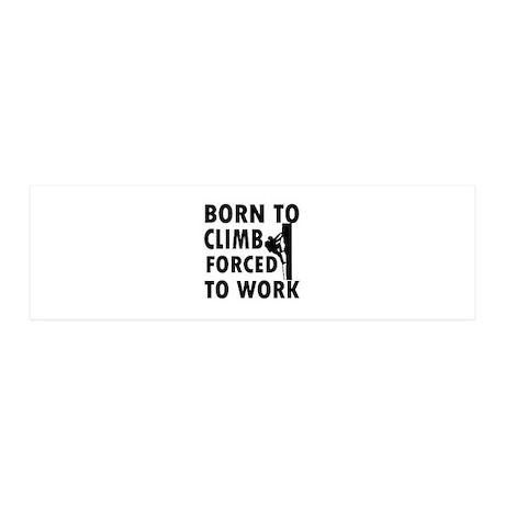 Born to Climb 42x14 Wall Peel