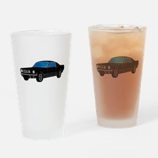 Cute 1968 ford mustang Drinking Glass