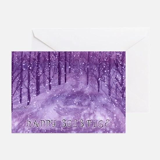 Midnight Snow (Happy Solstice) Cards (10)