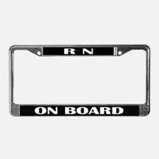 RN On Board Nursing License Plate Frame