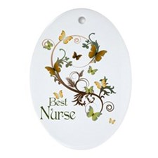 Best Nurse Ornament (Oval)