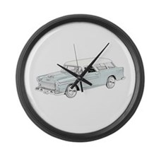 1955 Chevy Nomad - colored Large Wall Clock