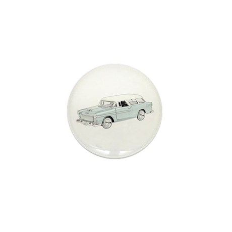 1955 Chevy Nomad - colored Mini Button (10 pack)