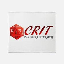 Four Letter Crit Throw Blanket