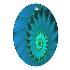 """Shell 3"" Fractal Art Oval Ornament"