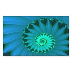 """Shell 3"" Fractal Art Rectangle Sticker"