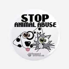 "Stop Animal Abuse - 3.5"" Button"