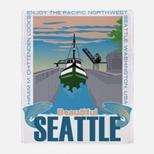 Beautiful Seattle Throw Blanket