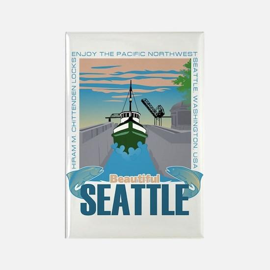 Beautiful Seattle Rectangle Magnet