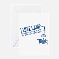 I Love Lamp Greeting Card