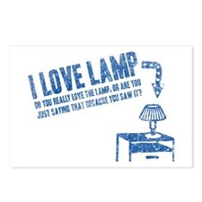 I Love Lamp Postcards (Package of 8)
