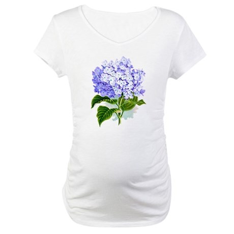 Hydrangea Maternity T-Shirt