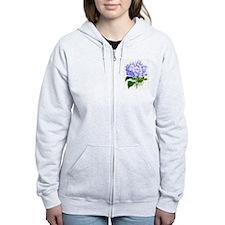 Hydrangea Zip Hoodie