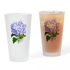 Hydrangea Drinking Glass