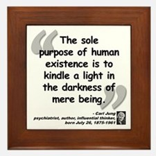Jung Purpose Quote Framed Tile