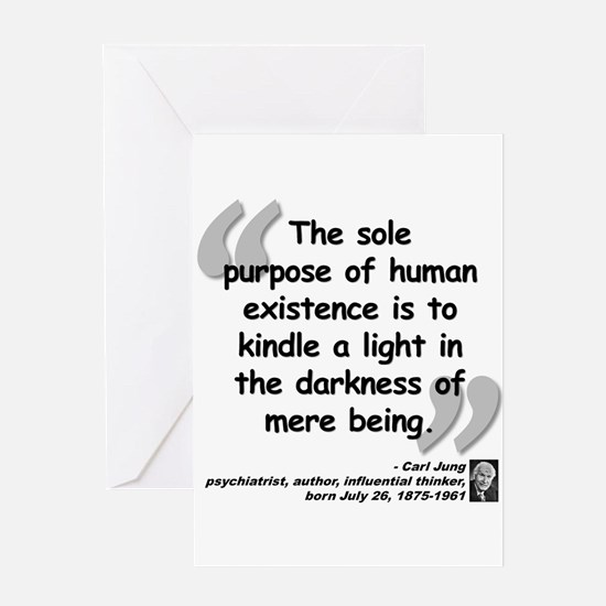 Jung Purpose Quote Greeting Card