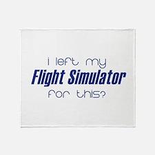 I left my Flight Simulator fo Throw Blanket