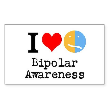 I <3 Bipolar Sticker (Rectangle)