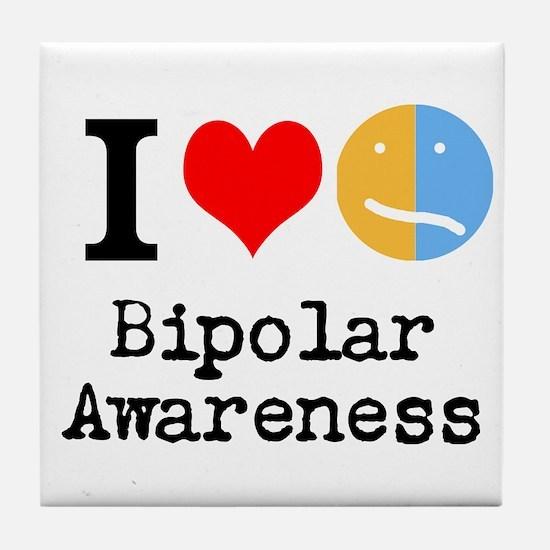 I <3 Bipolar Tile Coaster