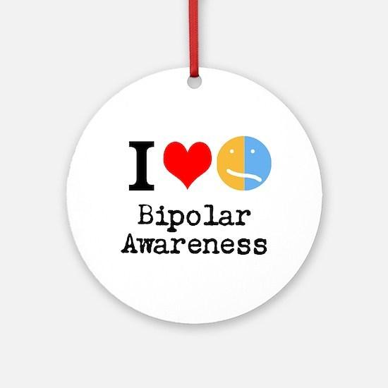 I <3 Bipolar Ornament (Round)