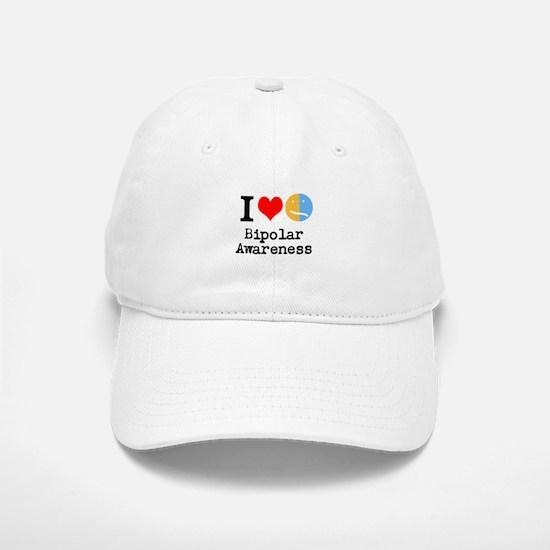 I <3 Bipolar Baseball Baseball Cap