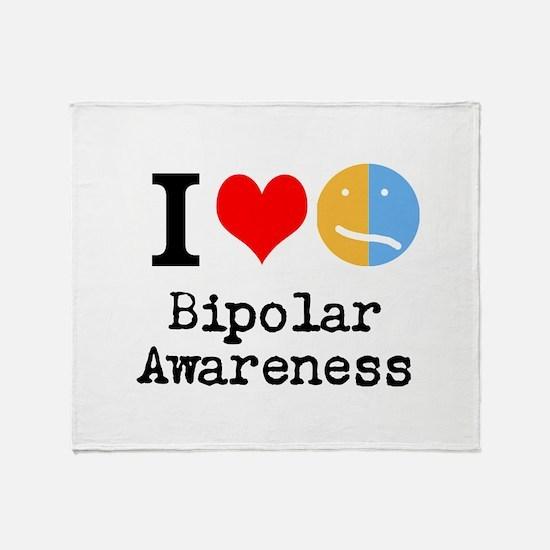 I <3 Bipolar Throw Blanket
