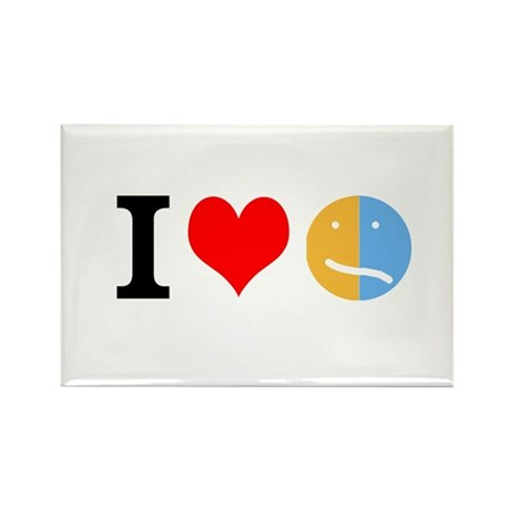 I <3 Face Rectangle Magnet (100 pack)