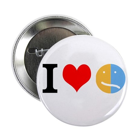 """I <3 Face 2.25"""" Button (100 pack)"""